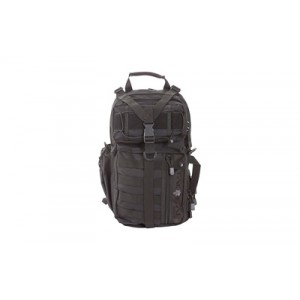 """Allen Lite Force Tactical Sling Pack, Black Endura Fabric, 18""""x9.75""""x7.5"""", 1200 Cubic Inches, Sling Design, Padded Adjustable Single Shoulder Strap, Concealed Carry Compatable, Large Main Compression Strap, Water Bottle And Sunglasses Pockets, Hydration C"""