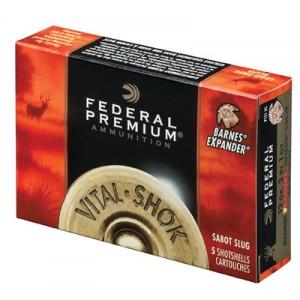 "Federal Cartridge Vital-Shok Trophy .20 Gauge (3"") Slug (Sabot) Copper (5-Rounds) - P209TC"