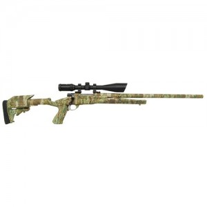 """HOWA/Legacy Axiom Varminter Scope Package Camo .22-250 Remington 5-Round 24"""" Bolt Action Rifle in Blued - HWK96102P"""