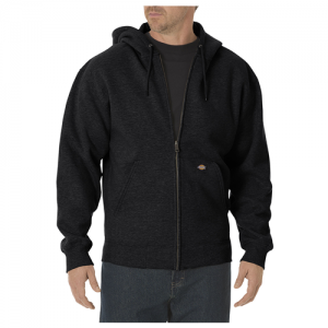 Dickies Midweigth Fleece Men's Full Zip Hoodie in Black - 3X-Large