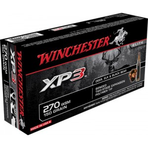 Winchester .270 Winchester Short Magnum Supreme Elite XP3, 150 Grain (20 Rounds) - SXP270S