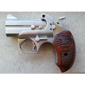 "Bond Arms Patriot Defender .410/.45 Long Colt 2-Shot 3"" Derringer in Stainless - BAPA45/410"