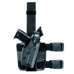Safariland 6004 SLS Tactical Right-Hand Thigh Holster for Beretta 92 Vertec in Flat Dark Earth (FDE) (W/ Surefire P001, Double Leg Strap) - 6004-7346-551