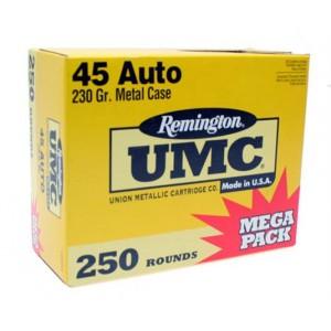 Remington UMC .45 ACP Metal Case, 230 Grain (250 Rounds) - L45AP4A