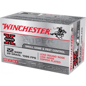 Winchester 22 Lr Super X Short Lead Round Nose 29 Grain 50 Round Box X22S