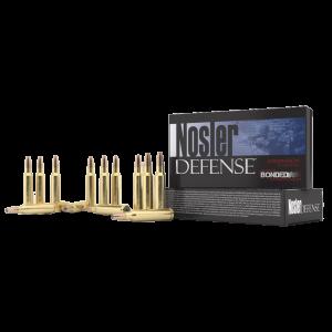 Nosler Bullets Defense 6.8 SPC Bonded Solid Base, 90 Grain (20 Rounds) - 39680