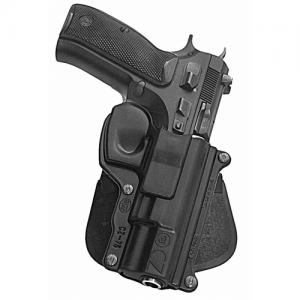 """Fobus USA Rotating Right-Hand Paddle Holster for CZ USA CZ75 in Black (4.6"""") - CZ75RP"""