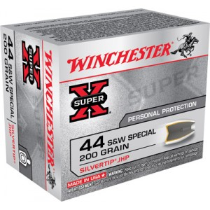 Winchester Super-X .44 Special Silvertip HP, 200 Grain (20 Rounds) - X44STHPS2
