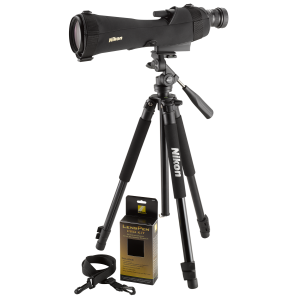"Nikon Prostaff 17.9"" 20-60x82mm Spotting Scope in Black - 6982"