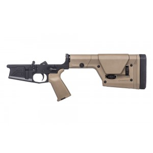 Aero Precision M5 Complete Lower Receiver with MOE Grip and PRS Rifle Stock Black with FDE Furniture APAR308226