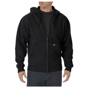 Dickies Midweigth Fleece Men's Full Zip Hoodie in Black - Large