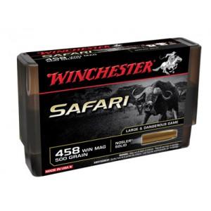 Winchester Supreme Safari .458 Winchester Magnum Nosler Solid, 500 Grain (20 Rounds) - S458WSLS