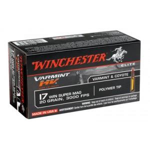 Win Ammo S17W20 17 Win Super Mag 20GR 50Bx/10Cs High Velocity