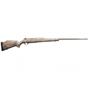 "Weatherby Mark V .300 Winchester 3-Round 26"" Bolt Action Rifle in Tan With Spiderweb and Camo Accents - MATM300NR6O"