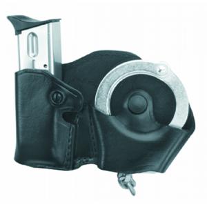 Gould & Goodrich Cuff Case/Magazine Case Combo Magazine/Handcuff Holder in Black - B821-3LH