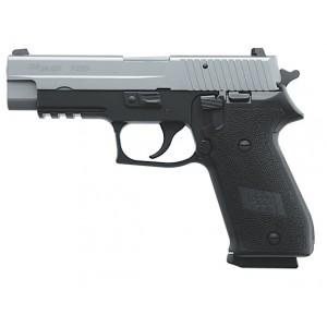 "Sig Sauer P220 Carry CA Compliant .45 ACP 8+1 3.9"" Pistol in Two Tone Black Nitron (Black Hogue Rubber Grip) - 220CAR45RTSS"