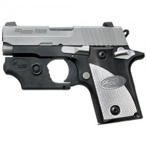 "Sig Sauer P238 Micro-Compact .380 ACP 6+1 2.7"" Pistol in Two Tone Black Nitron (Black/Silver Grip) - 238380TL"