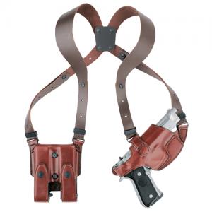 Aker Leather Shoulder Right-Hand Shoulder Holster for Sig Sauer P220, P226 in Plain Black - H101BPRU-SS 220
