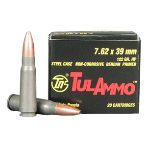TulAmmo 7.62X39 Hollow Point, 122 Grain (20 Rounds) - UL076202