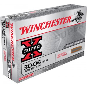 Winchester Super-X .30-06 Springfield Pointed Soft Point, 125 Grain (20 Rounds) - X30062