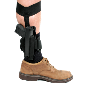 "Blackhawk CQC Right-Hand Ankle Holster for Medium/Large Autos/Revolver in Black (3.25"" - 3.75"") - 40AH16BKR"