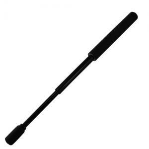 Expandable AutoLock Batons Grip: Foam Length: 18  Finish: Black Chrome Tip Style: Power Safety Tip