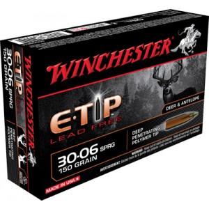 Winchester Supreme .30-06 Springfield E-Tip Lead-Free, 150 Grain (20 Rounds) - S3006ETA