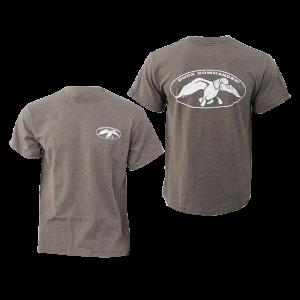 Duck Commander Logo Men's T-Shirt in Charcoal Grey - Small
