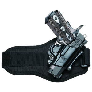 "Fobus USA Ankle Right-Hand Ankle Holster for Browning Hi-Power in Black (4.7"") - C21BA"