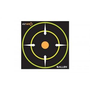 "Allen Ez See Adhesive Bullseye Target, 6""x6"", 12pk 15226"