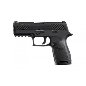 "Sig Sauer P320 Compact 9mm 15+1 3.9"" Pistol in Black Nitron (SIGLITE Night Sights) - 320C9BSSMS"