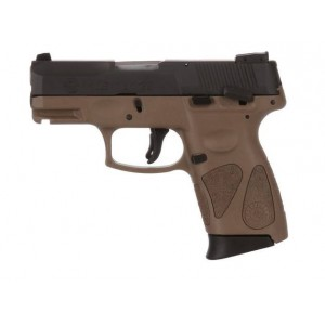 "Taurus PT-111 Millennium Pro G2 9mm Semi Auto Pistol 3.2"" Barrel 12+1 Capacity DAO 2 - 12 Round Magazines Black Slide with Brown Frame 3-Dot Adjustable Sights 1-111031G2-12B"