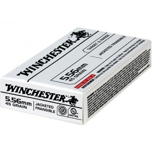 Winchester .223 Remington/5.56 NATO Jacketed Frangible, 45 Grain (20 Rounds) - USA556JF