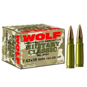 Wolf Performance Ammo Performance 7.62X39 Jacketed Hollow Point, 122 Grain (1000 Rounds) - 762BHP