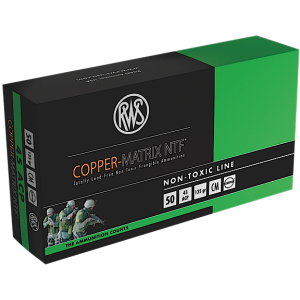 Ruag Ammotec Usa Inc Copper .45 ACP Non-Toxic, 145 Grain (50 Rounds) - 204540050