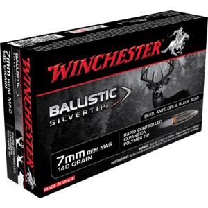 Winchester Supreme 7mm Remington Magnum Ballistic Silvertip, 140 Grain (20 Rounds) - SBST7A