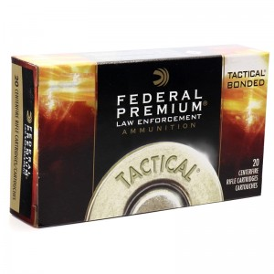 Federal Cartridge .308 Winchester/7.62 NATO Bonded Soft Point, 165 Grain (20 Rounds) - LE308T1