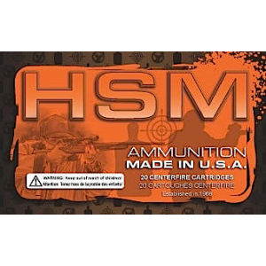 HSM Hunting Shack 9mm Full Metal Jacket Round Nose, 115 Grain (50 Rounds) - 9MM2RN