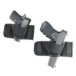 Uncle Mike's Baby Bet Ambidextrous-Hand Belt Holster for Compact Autos in Black - 8690