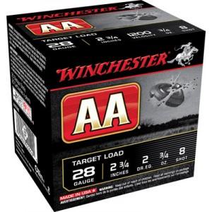 "Winchester AA .28 Gauge (2.75"") 8 Shot Lead (250-Rounds) - AA288"