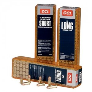 CCI Speer Competition/Target and Plinking .22 Long Rifle Round Nose, 29 Grain (100 Rounds) - 29