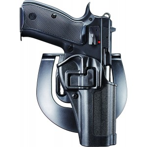 "Blackhawk Serpa CQC Right-Hand Belt Holster for CZ 75B in Black (4.6"") - 410562BKR"