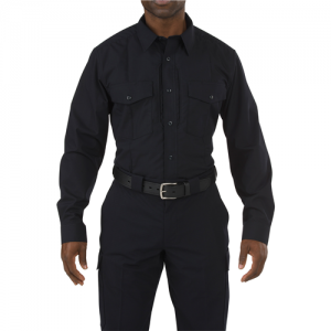 5.11 Tactical Stryke Men's Long Sleeve Uniform Shirt in Midnight Navy - Medium