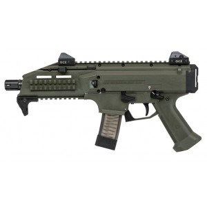 "CZ Scorpion EVO 3 S1 9mm 20+1 7.7"" Pistol in OD Green - 91355"