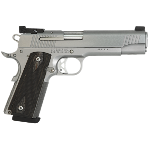 "Sig Sauer 1911 Full Size Traditional Match Elite CA Compliant 9mm 9+1 5"" 1911 in Stainless Steel (Blackwood Grip) - 1911T9SME"