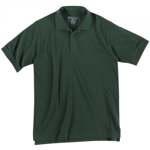5.11 Tactical Utility Men's Short Sleeve Polo in LE Green - Large