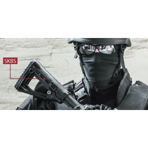 CAA Command Arms Skeletonized Buttstock, Fits Commercial and Mil-Spec AR-15/M16  Tubes, Black SKBS