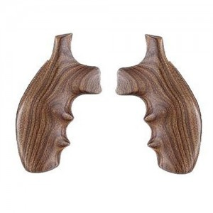 Hogue Finger Groove Wood Grips For Smith & Wesson K/L Frame Round Butt 19300