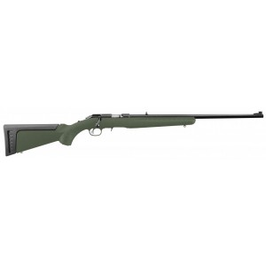 "Ruger American Rimfire Threaded ODG 22 WMR .22 Winchester Magnum 9-Round 18"" Bolt Action Rifle in Blued - 8335"
