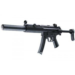 """Walther USA MP5 A5 .22 Long Rifle 25-Round 16.1"""" Semi-Automatic Rifle in Black - 5780311"""